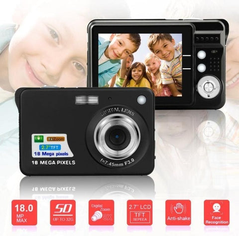 "Children Portable Mini Camera 2.7"" 720P 18MP 8x Zoom TFT LCD HD Digital Camera Video Camcorder DV Anti-Shake Photo For Kids Gift"