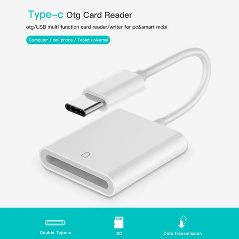 SD Card Reader USB 3.1 Type C USB-C to SD Card Camera Reader Type-C OTG Card Reader for Macbook Cell Phone Samsung Huawei