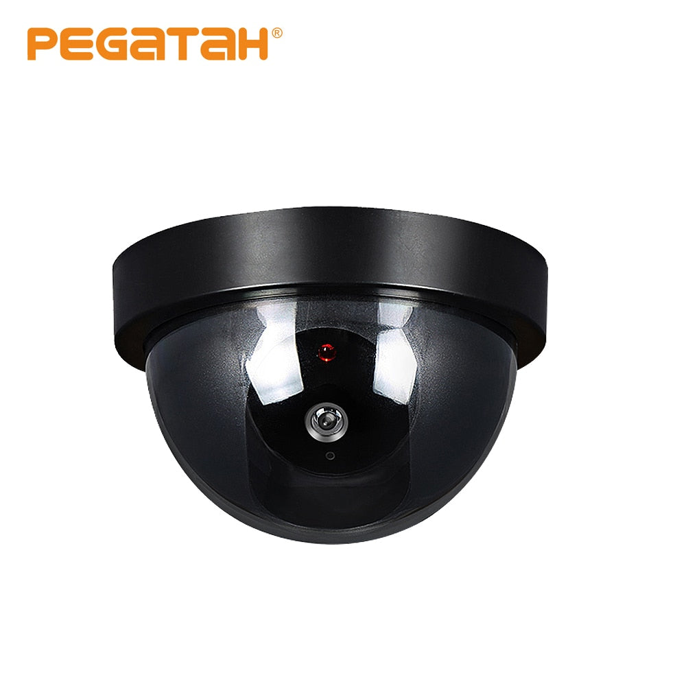 MIni CCTV Camera Fake/ Dummy Dome Camera Flash red Light install Out /indoor Surveillance Security Camera support put battery