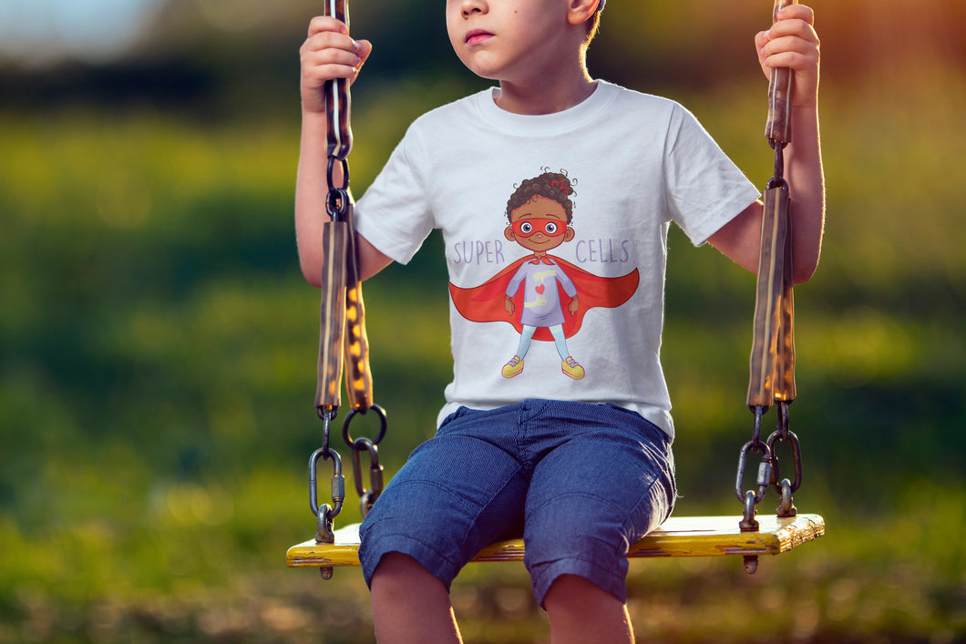 Super Cells-White T-shirt for Kids
