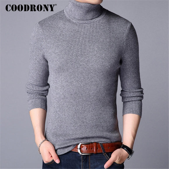 COODRONY Mens Sweaters 2018 Autumn Winter Thick Warm Pullover Men Knitted Cashmere Wool Sweater Men Heavy Turtleneck Jumper 8229