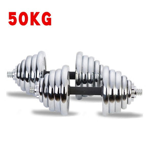 30KG Adjustable Strength Weight Dumbells Fitness Dumbbell Electroplating Weight Bars Gym Barbell Set for Men Body Building New