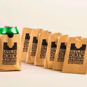 Outlaw Paper Bag Koozies