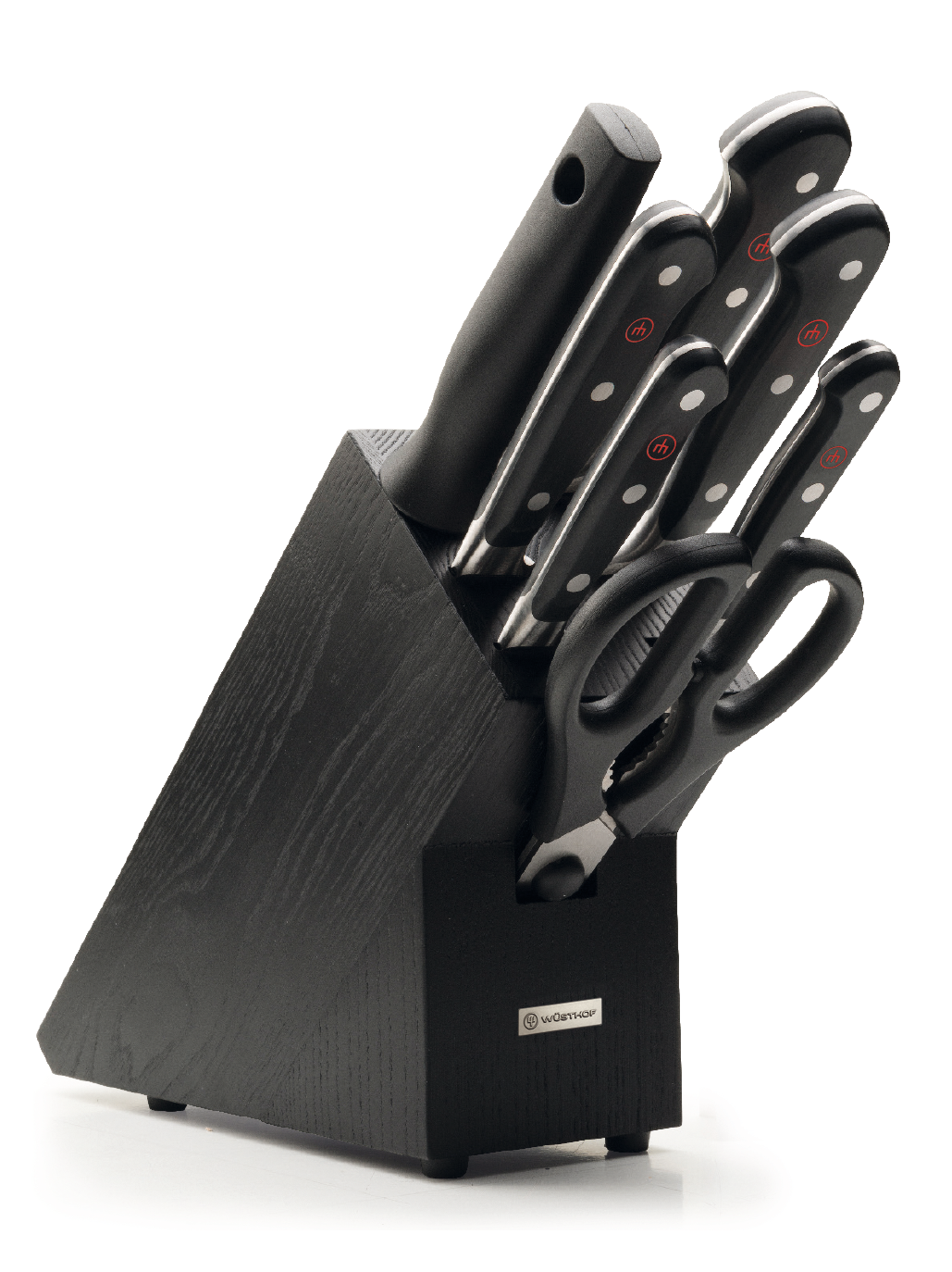 Eight Piece Knife Block Set with Black Knife Block - 9837