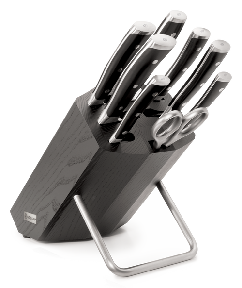 Nine Piece Knife Block Set with Black Knife Stand - 9880