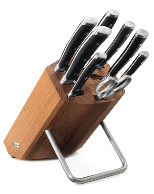 Eight Piece Knife Block Set with Thermo Wood Knife Stand - 9882