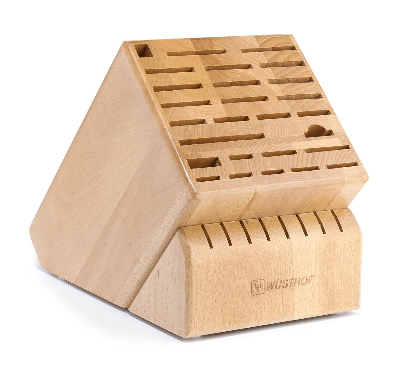 35 Slot Colossus Knife Block in Natural Beech - 7235-1