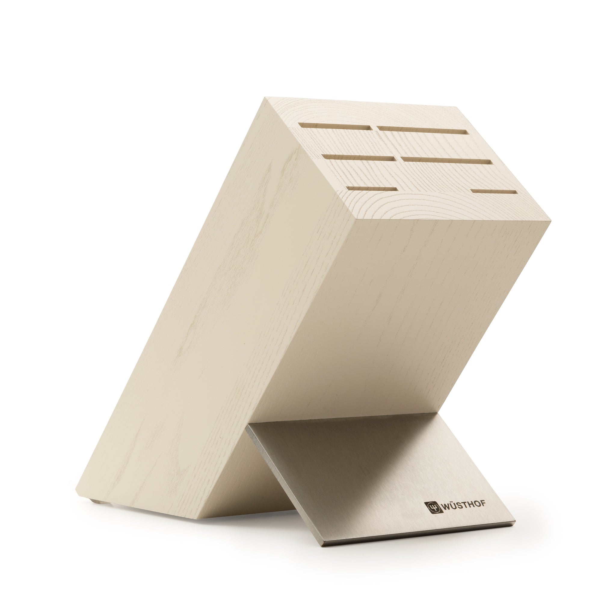 Crème Ash Wood Knife Block - 7266
