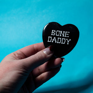 Bone Daddy Heart Button