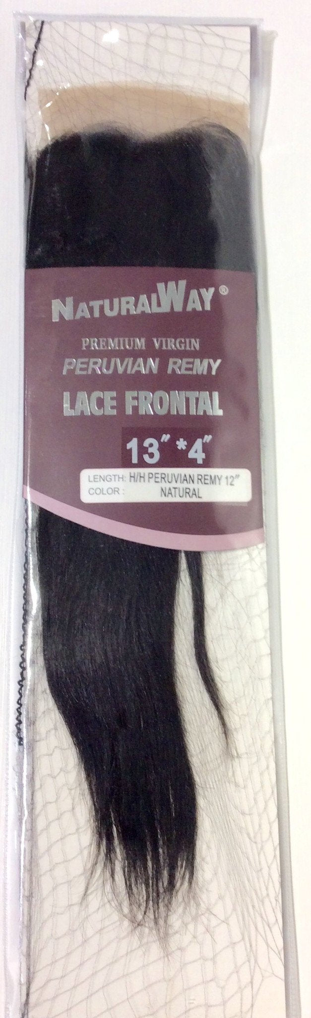 "12"" Premium Virgin Peruvian  Remy Lace Frontal 13""*4"" Natural"