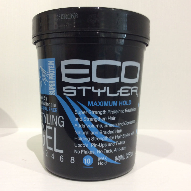Eco Styler alcohol free super protein styling gel 32oz