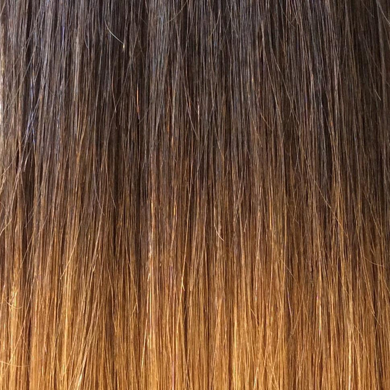 "18"" 100% Human Hair Extension color T2/30"