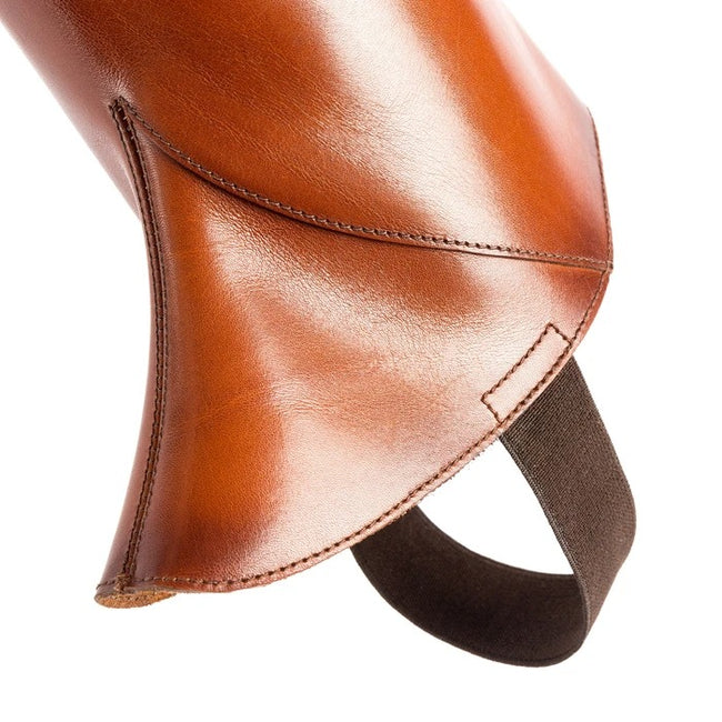 Alberto Fasciani Braune Lederchaps, Chaps in brown calf leather