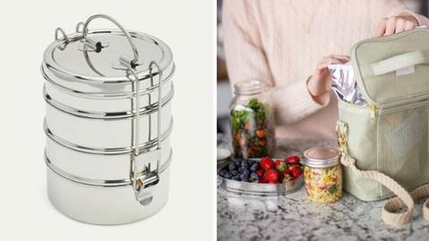 Dalcini Stainless Steel 4 layer food container