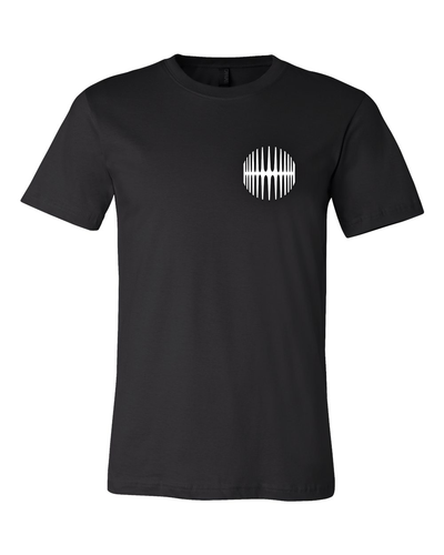 Elliptical Sun Music Split Logo T-Shirt - Black - MY MUSIC MERCH