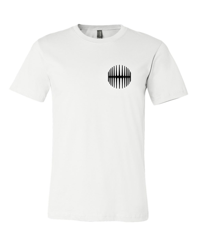 Elliptical Sun Music Split Logo T-Shirt - White - MY MUSIC MERCH