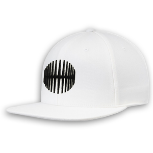 Elliptical Sun Snapback - White - MY MUSIC MERCH