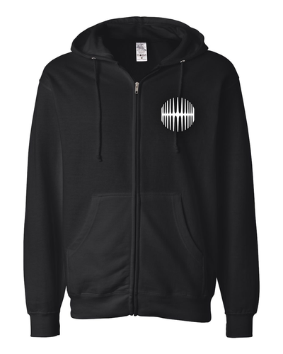 Elliptical Sun Music Split Logo Hoodie - Black - MY MUSIC MERCH