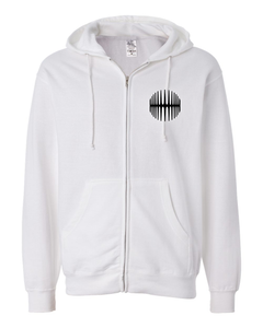 Elliptical Sun Music Split Logo Hoodie - White - MY MUSIC MERCH