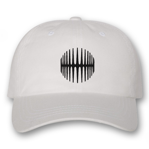 Elliptical Sun Dad Hat - White - MY MUSIC MERCH