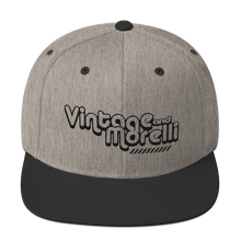 Load image into Gallery viewer, Vintage & Morelli Snapback - Black Embroidery - MY MUSIC MERCH