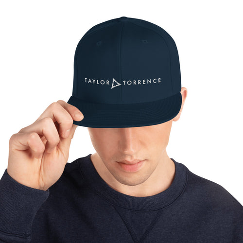 Taylor Torrence Snapback - White Logo - MY MUSIC MERCH