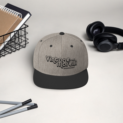 Vintage & Morelli Snapback - Black Embroidery - MY MUSIC MERCH