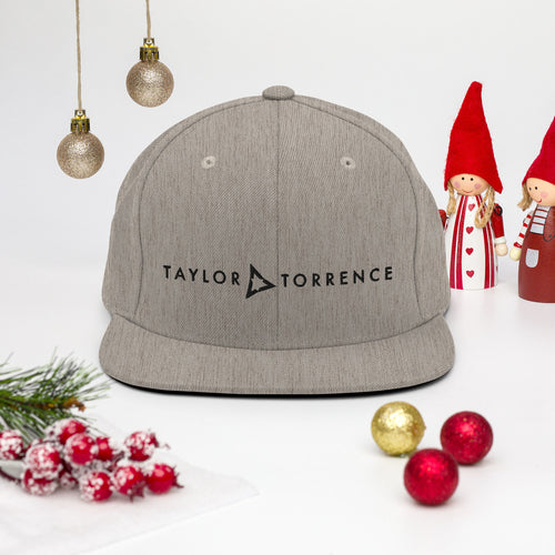 Taylor Torrence Snapback - Black Logo - MY MUSIC MERCH