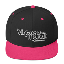 Load image into Gallery viewer, Vintage & Morelli Snapback - White Embroidery - MY MUSIC MERCH