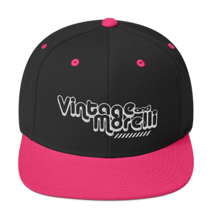 Vintage & Morelli Snapback - White Embroidery - MY MUSIC MERCH