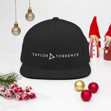 Load image into Gallery viewer, Taylor Torrence Snapback - White Logo - MY MUSIC MERCH