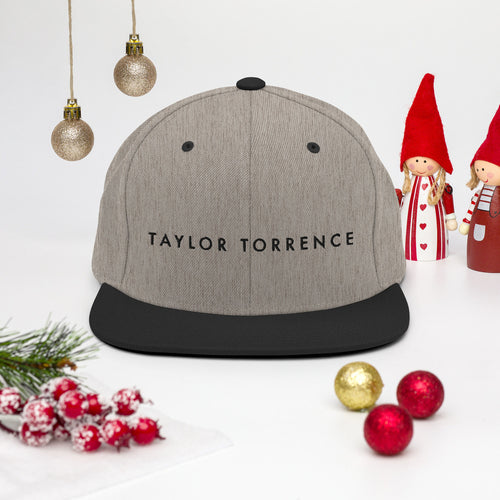 Taylor Torrence Double Sided Snapback - Black Logo - MY MUSIC MERCH