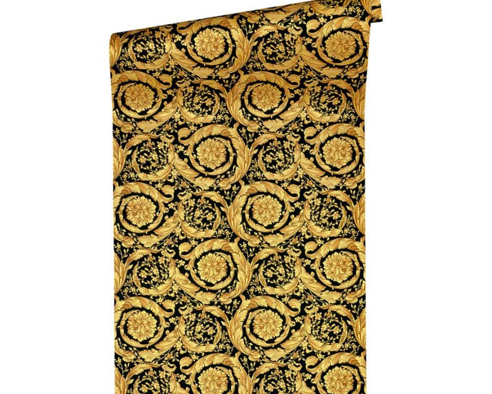 Revêtement mural Barocco Scroll Flowers by VERSACE -réf 935834-