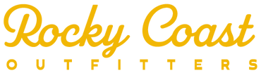 Rocky Coast Outfitters of Washington and Oregon Coast yellow logo