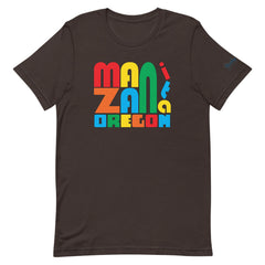 Manzanita, Oregon Unisex T-Shirt, Primary Colors Graphic