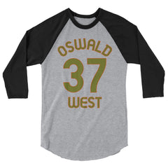 Baseball Jersey with Oswald West and the number 37 printed on front