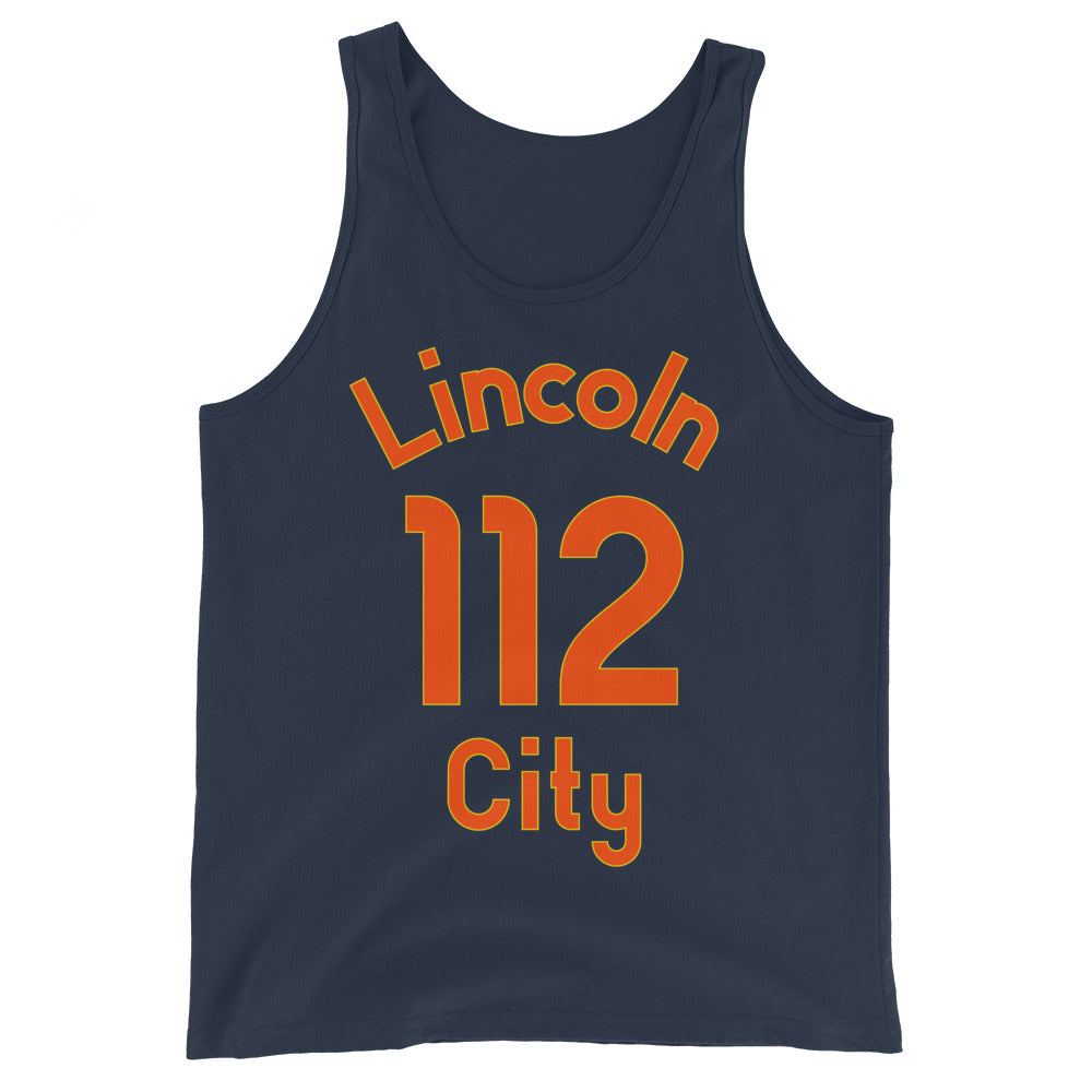 Tank Top with Lincoln City and 112 printed on the front