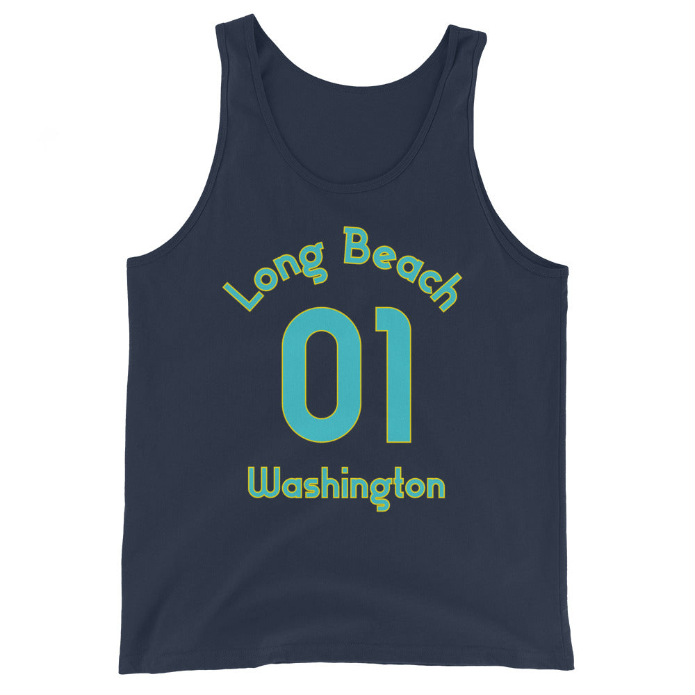 Long Beach, Washington - Milepost Jersey Tank Top - Unisex