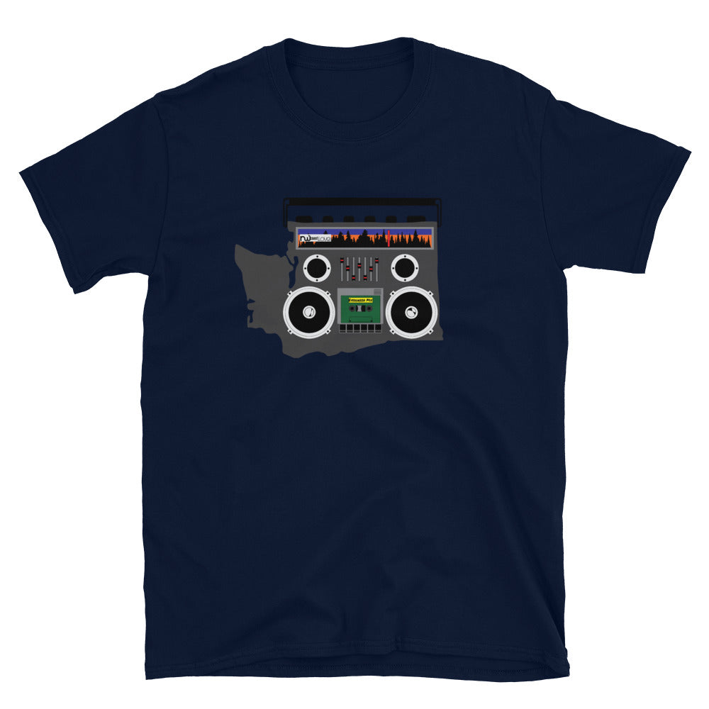 Boom Box Washington Graphic, Short-Sleeve Unisex T-Shirt