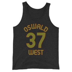 Oswald West, Oregon - Milepost Jersey Tank Top - Unisex - Olive Letters