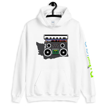 Boom Box Washington Pullover Unisex Hoodie