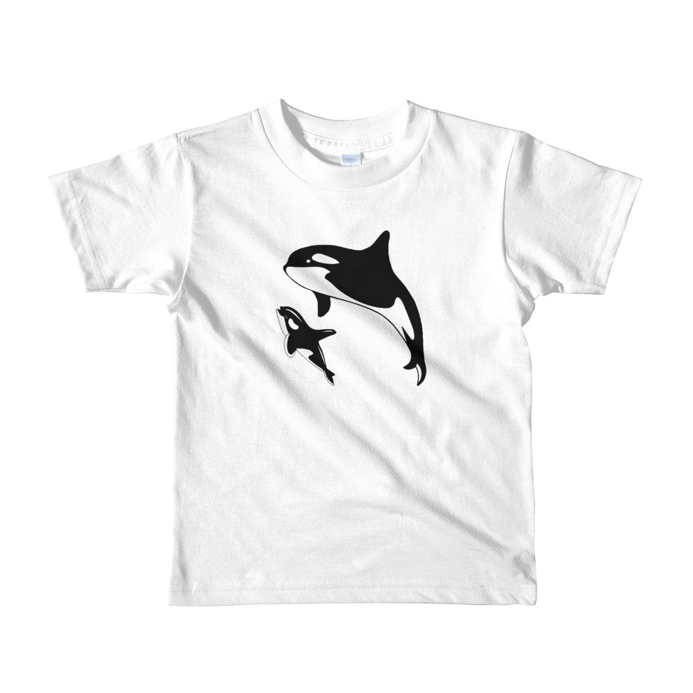Orca Mom and Baby Short sleeve kids t-shirt