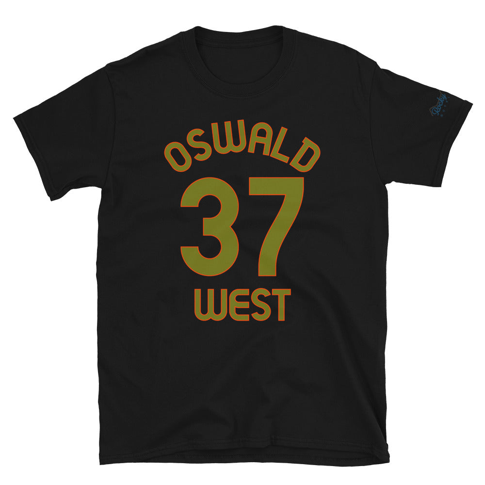 Oswald West, OR - Milepost Jersey, Short-Sleeve Unisex T-Shirt