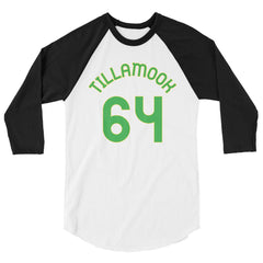Baseball Jersey with Tillamook and the number 64 printed on front