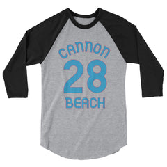Baseball Jersey with Cannon Beach and the number 28 printed on front