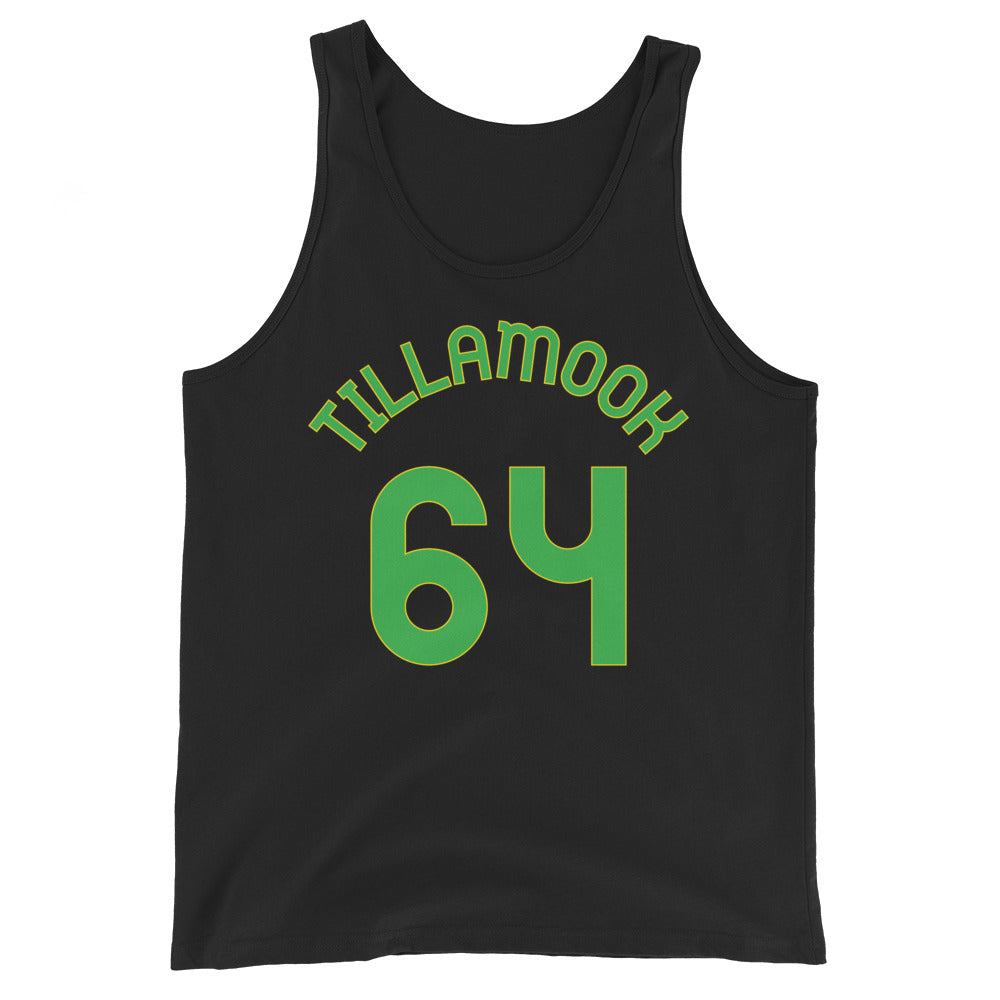 Tank Top with Tillamook and 64 printed on the front