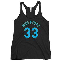 Hug Point, Oregon Women's Racerback Tank - Milepost Jersey, Blue Letters