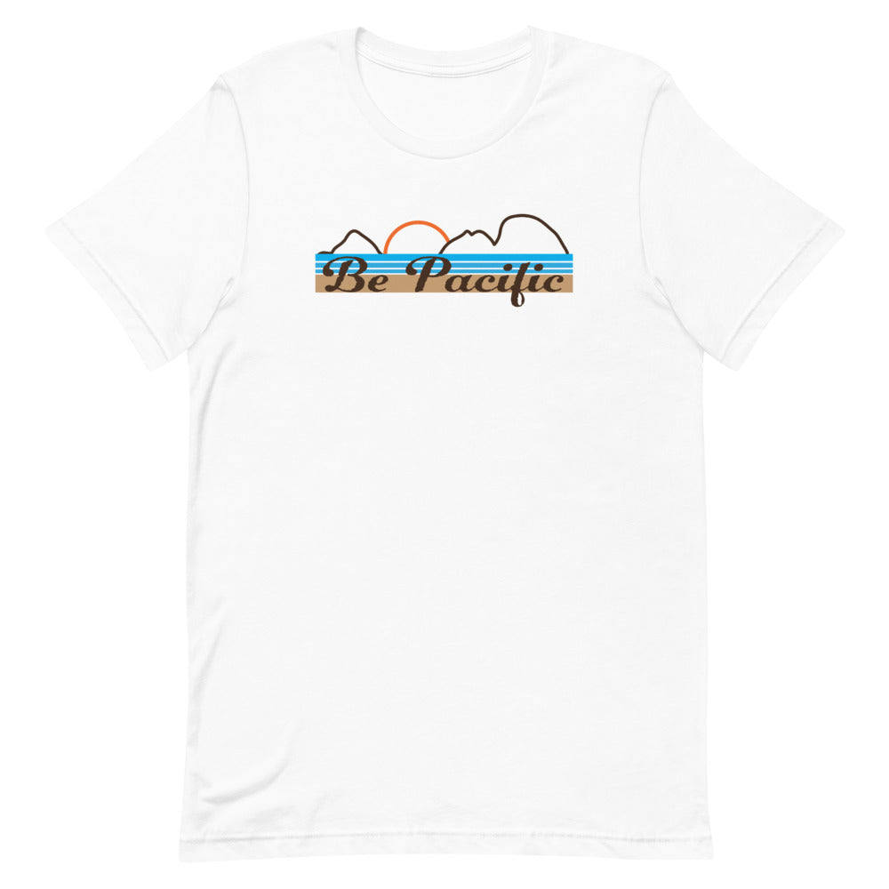 Be Pacific, Oregon Coast, Short Sleeve Unisex T-Shirt