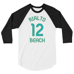 Rialto Beach, Washington - 3/4 Sleeve Raglan Milepost Jersey