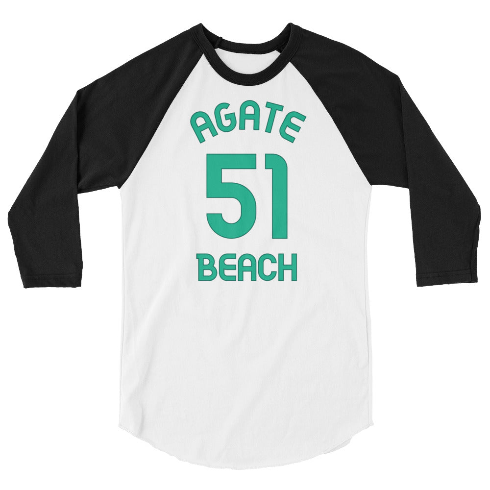 Agate Beach, Washington - 3/4 Sleeve Raglan Milepost Jersey